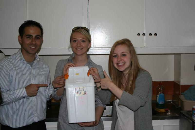 Practising with the bin